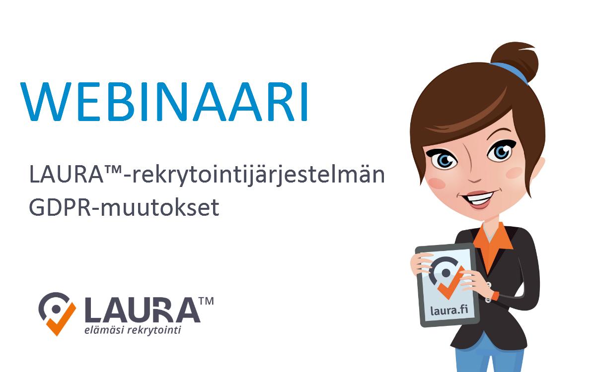 Webinaari: LAURA™-rekrytointijärjestelmän GDPR-muutokset