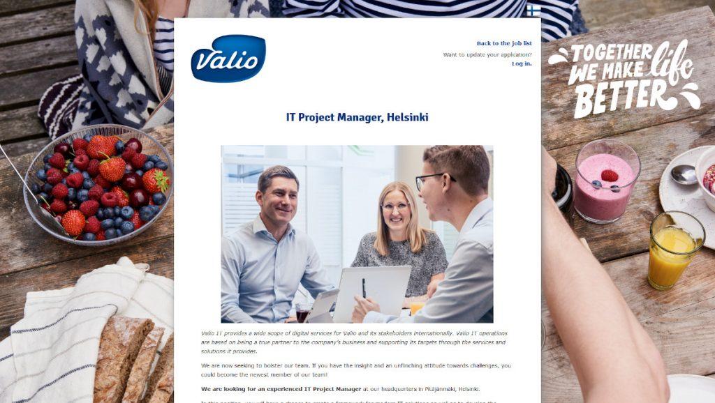 Työnantajakuvan markkinointia rekrytointi-ilmoituksessa